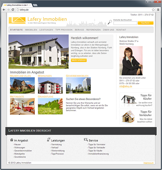 Webdesign Lafery Immobilien